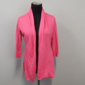 NY & C Pink Knit Open Front Long Sleeve Cardigan
